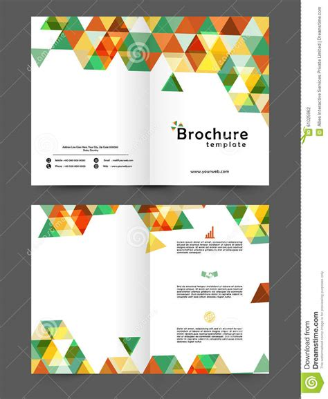 two page business brochure or template stock illustration