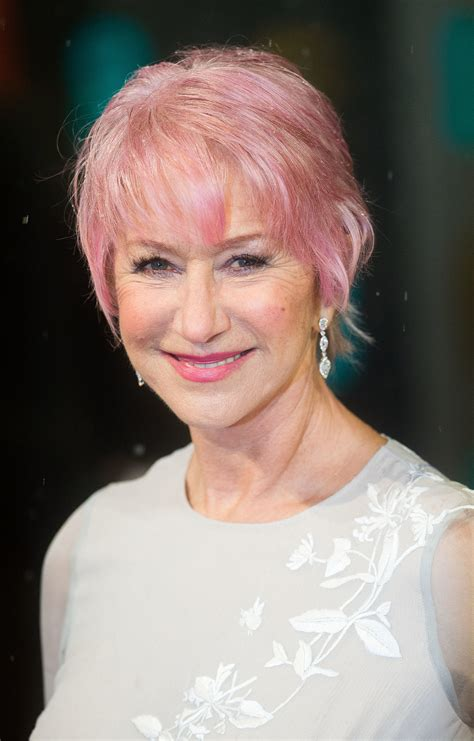 older women with pink hair helen mirren the future s bright celebrities with
