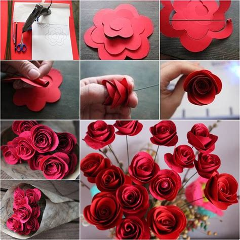 How To Make A Craft Paper Flower - how to diy beautiful swirly paper roses paper roses