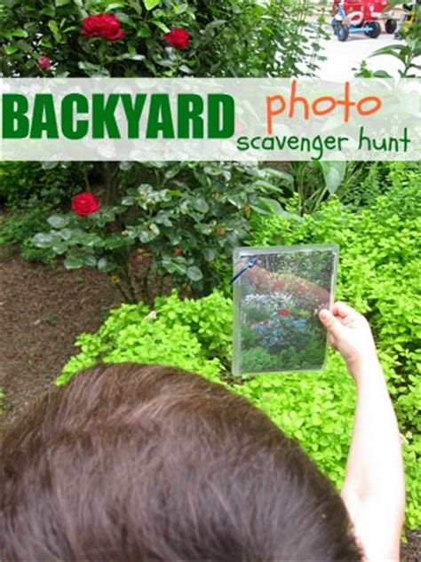 backyard treasure hunt backyard photo scavenger hunt no time for flash cards