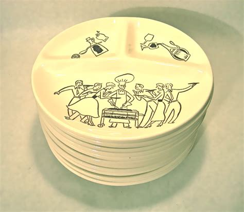 10 plate ceramic set set of 10 vintage ceramic barbecue themed plates nvision