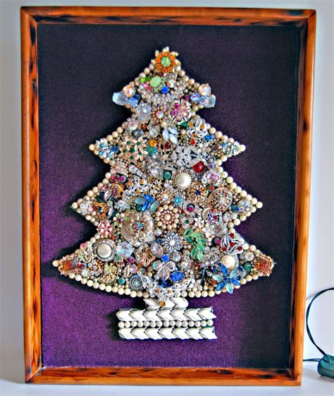 how to make a vintage jewelry tree vintage tree wall hanging made of vintage jewelry