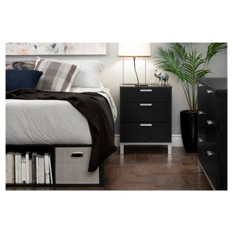 nightstand with charging station black oak finish jeffrey nightstand with charging station black oak