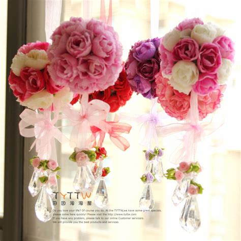 artificial flower decorations for home rose ball silk flower natural touch artificial flower home