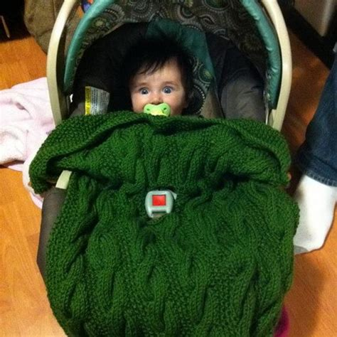 Knitted Car Seat Blanket by Bardan Car Seat Blanket For Baby And Toddler Pdf Knitting