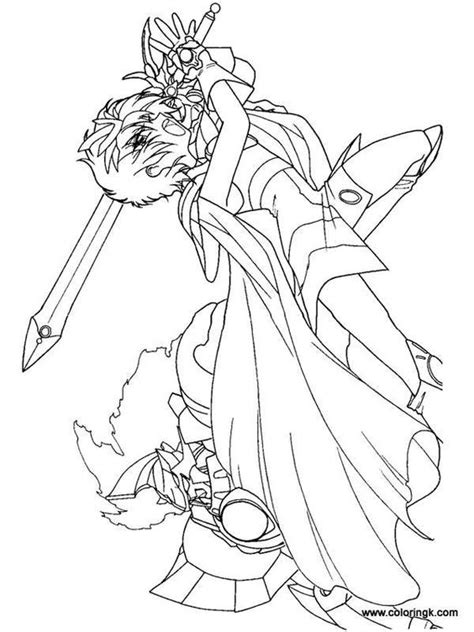 anime coloring pages vire knight magic knight rayearth and knight on pinterest