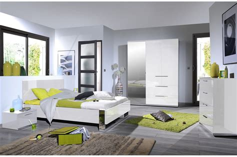chambre a coucher blanc laque