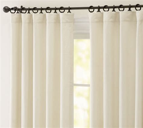pottery barn linen curtains peyton linen cotton drape contemporary curtains by