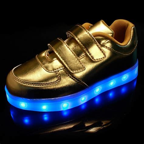 white and gold light up shoes light up revolution