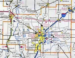 allen county map ohio ohio hotels motels vacation