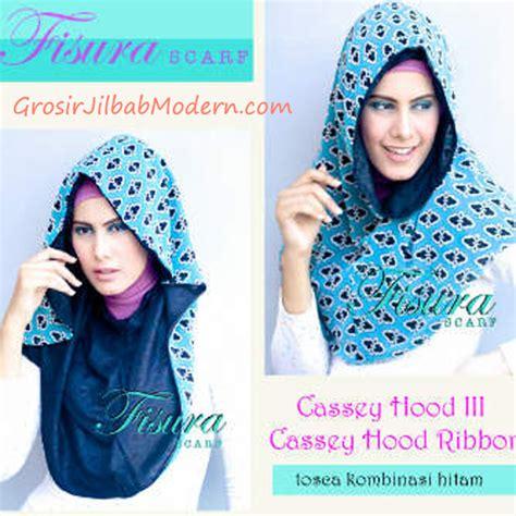 Tk1 Kerudung Jilbab Instant Ribboni jilbab cassey ribbon toska kombinasi hitam grosir jilbab modern jilbab cantik jilbab