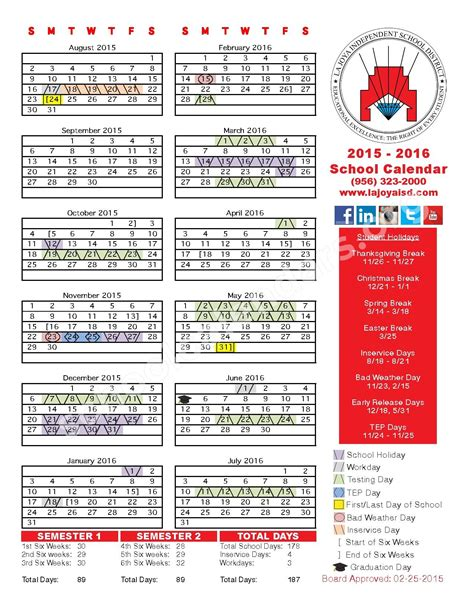 District 200 Calendar Diaz Villarreal Elementary School Calendars Mission Tx