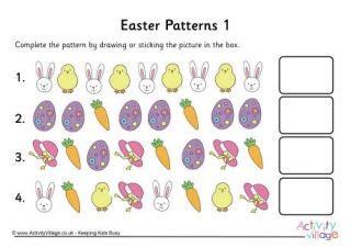 easter pattern worksheet easter worksheets