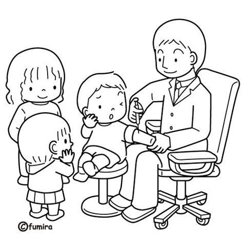 imagenes convivencia escolar para colorear medico vacunando dibujalia dibujos para colorear