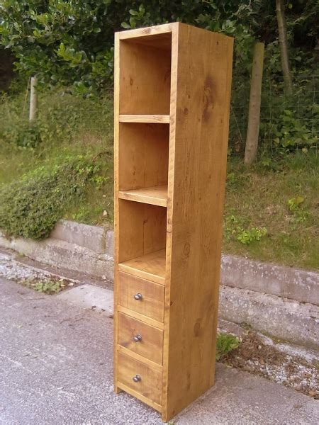 Shelf And Drawer Unit by Cube Style Shelf And Drawer Unit Rustic Plank Furniture