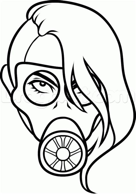 how to draw a gas mask tattoo step by step tattoos pop