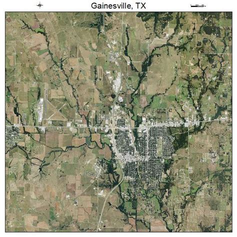 gainesville texas map aerial photography map of gainesville tx texas