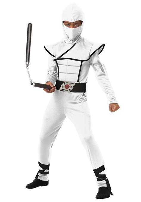 ninja costume pattern for adults child white stealth ninja costume