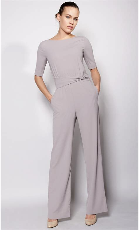 Jamsuit Kombi Grey crepe jumpsuit mondefile