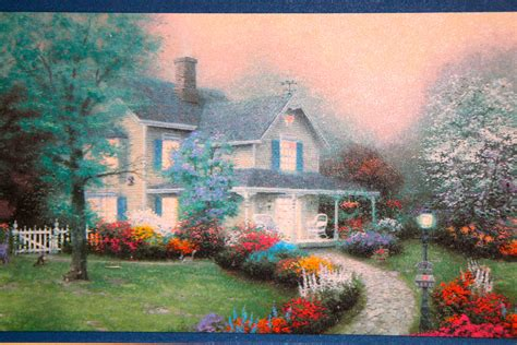 Thomas Kinkade Painter Of Light Christmas Cottage Billy Kinkade Cottages