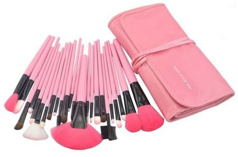 Kuas Make Up 1 Set Dompet Pink For You Brush professional 24 pcs makeup brush set kit pink review and buy in dubai abu dhabi and rest of