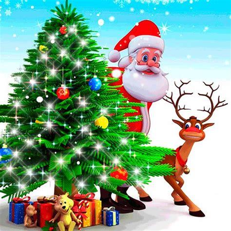 imagenes d navidad animadas hermosos paisajes navidad animada papa noel christmas