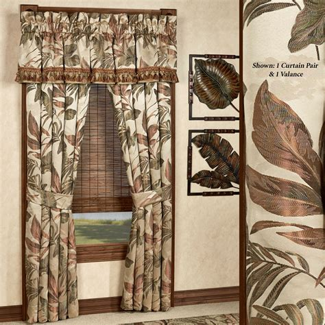 bali drapes bali palm tropical window treatments by croscill
