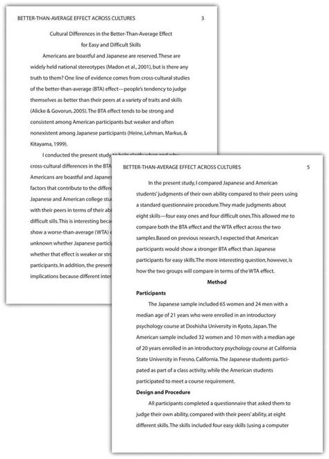 template for apa format paper apa paper format pasadena city college