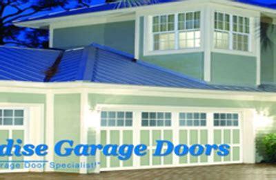 paradise garage doors   tropical trl merritt island