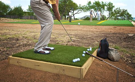 backyard golf drills elements of practice wedge tee boxes synlawn golf