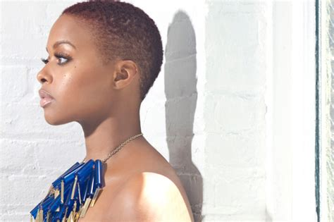 bald head women hairstyles chrisette michele shaved head