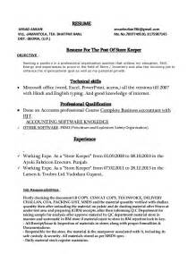 Storekeeper Resume Sle by Grocery Clerk Sle Resume Happy Birthday Word Template