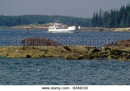 boat transport rockland maine the vinalhaven ferry rockland maine usa stock photo