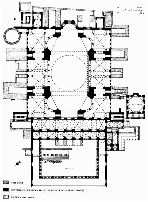 floor plan of hagia sophia medieval art
