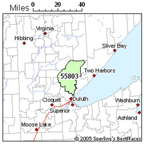 zip code map duluth mn best place to live in duluth zip 55803 minnesota