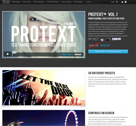 final cut pro text new final cut pro x text effects and plugins from pixel