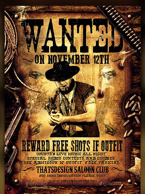 14 Western Wanted Poster Free Printable Word Pdf Psd Wanted Poster Psd