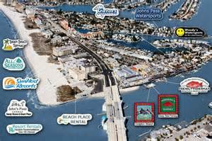 johns pass florida map flying shark at scully s picture of s pass