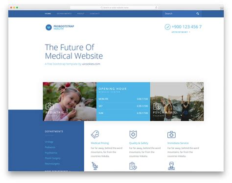 23 Free Doctor Website Templates With Neat Design 2018 Uicookies Doctor Website Template Free