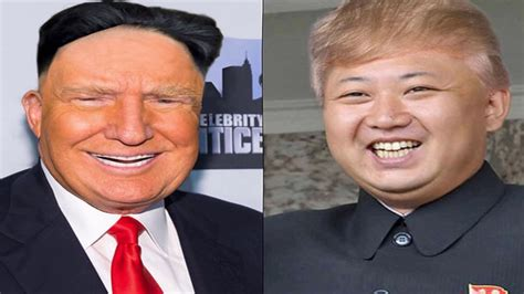 donald trump vs kim jong un donald trump kim jong un head transplant youtube