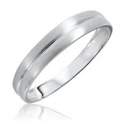 white gold wedding bands for traditional mens wedding band 14k white gold my trio rings bt309w14km