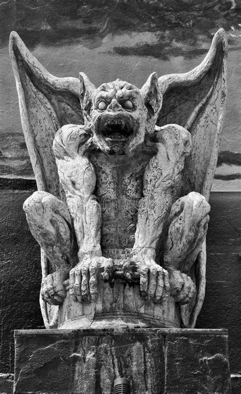 Gargoyle Black And White Stock Photo - Image: 56328620