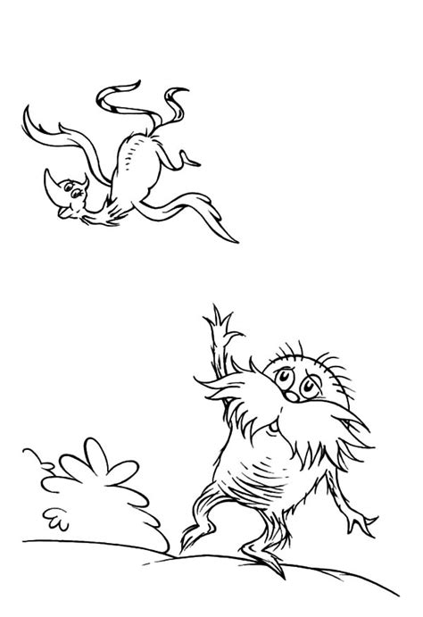 truffle tree coloring page lorax color pages coloring page lorax coloring pages