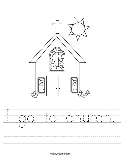 printable activity sheets for church i go to church worksheet twisty noodle