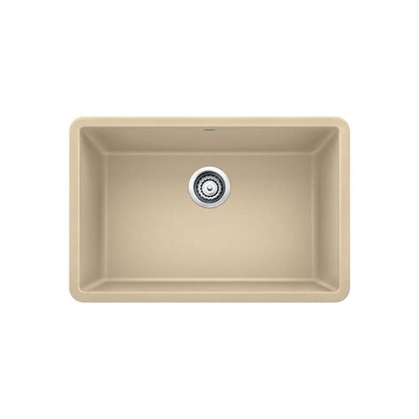 27 Kitchen Sink Blanco Precis Undermount Granite Composite 27 In Single Basin Kitchen Sink In Biscotti 522431