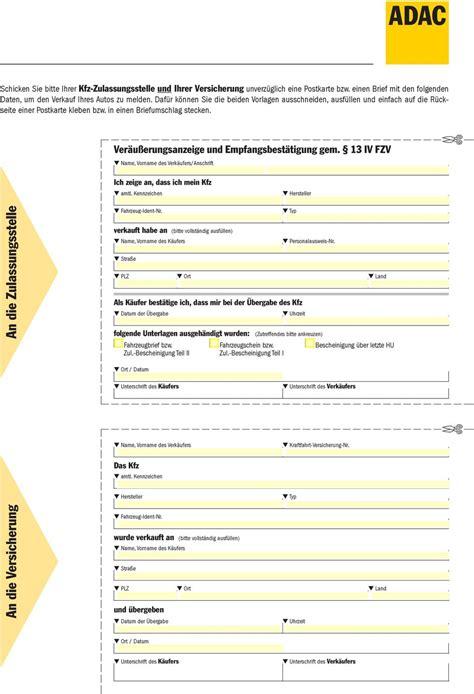 Muster Kündigung Versicherung Adac Verkauf Unternehmer An Privatperson Adac Kaufvertrag F 252 R Den Verkauf Eines Gebrauchten