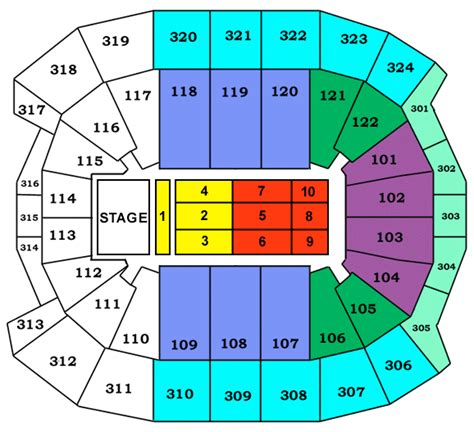 Air Canada Centre Floor Plan by Acc Map