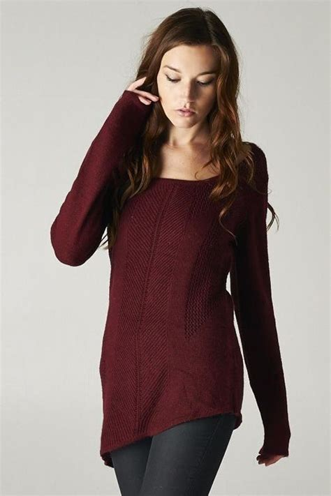 Pretty Trutleneck Sweater Maroon jackie sweater in burgundy on stine limited style