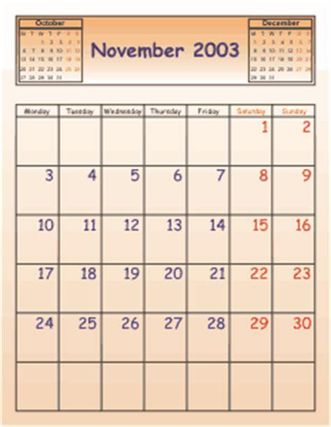 Calendar Wizard Calendar Wizard Presets