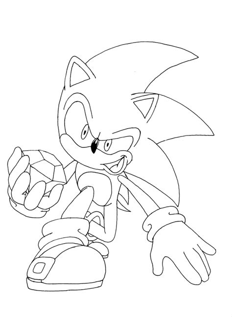 sonic x coloring pages sonic x line by yuski on deviantart